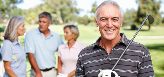 Slideshow image of a man at a golf club